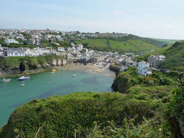 Port Isaac from the path to Lobber Point