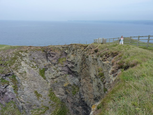 Above the cliffs of Varley Head