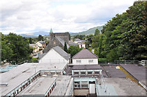 NN1074 : The roof of the Belford Hospital and view to St Mary's Catholic Church by Steven Brown
