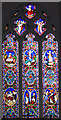 TF7932 : St Mary's church in Bagthorpe - east window by Evelyn Simak