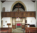 TF8730 : St Peter's church in Dunton - rood loft by Evelyn Simak