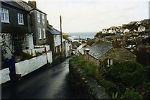 SW9980 : Street  leading down to the harbour in Port Isaac by David Gearing