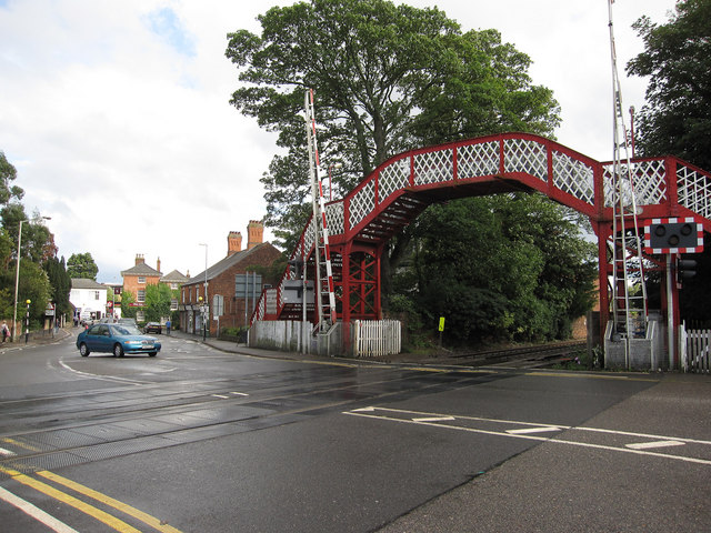 Level crossing by Oakham Station