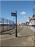 TQ3880 : Thames Path by the O2  Arena by Richard Rogerson