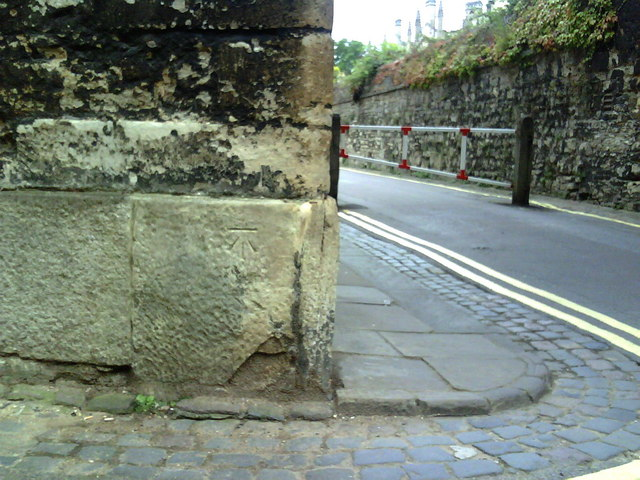 Benchmark at junction of New College Lane and Queens Lane
