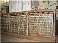 TF9839 : Church of St Mary & Holy Cross, Binham Priory - rood screen panels by Evelyn Simak