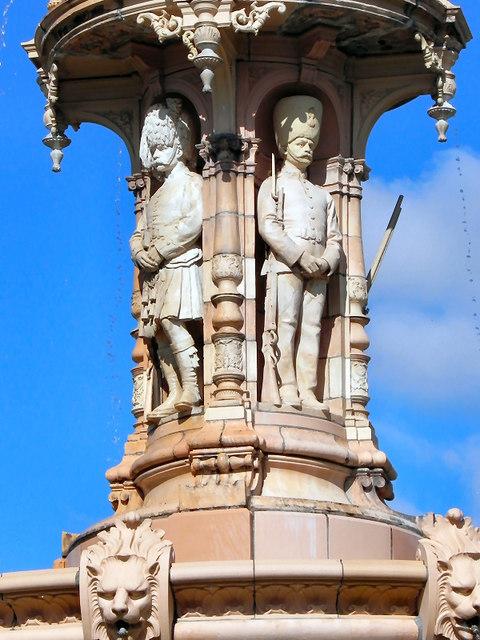 Doulton Fountain, Servicemen
