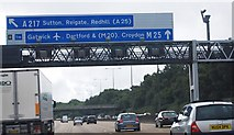 TQ2352 : M25: anti-clockwise, 1 mile to junction 8 by N Chadwick