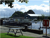 NS3975 : River Leven and Dumbarton Rock by Thomas Nugent