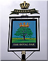 TQ1657 : The Royal Oak (pub sign), 265 Kingston Road by P L Chadwick