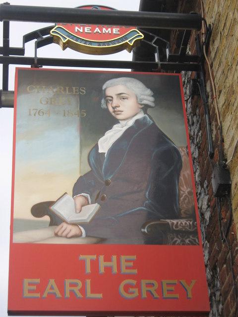 The Earl Grey, Pub Sign, Northfleet