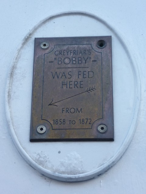 Greyfriars Bobby plaque, Forrest Road