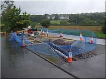SH5258 : Construction site at Waunfawr Station by Richard Hoare