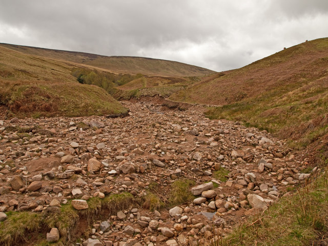 Harthope Burn flood damage