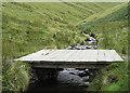 NY3427 : Bridge over the River Glenderamackin by michael ely
