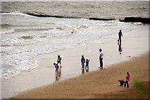 TM1714 : Beach, Clacton-on-Sea, Essex by Christine Matthews