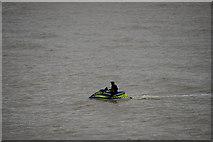 TM1714 : Police Jet Ski, Clacton-on-Sea, Essex by Christine Matthews