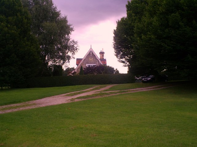 The Swiss Cottage from the cricket green
