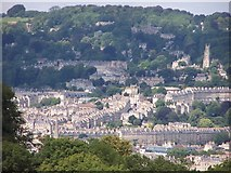 ST7465 : Bath; Lansdown Hill etc. from Prior Park by Roger Beale