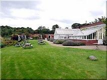 NZ1263 : Glass house tea room, Bradley Nursery and Gardens by Andrew Curtis