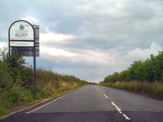 Turton Road, Bolton/Bury Border
