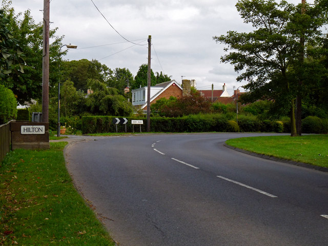 The approach to Hilton Village