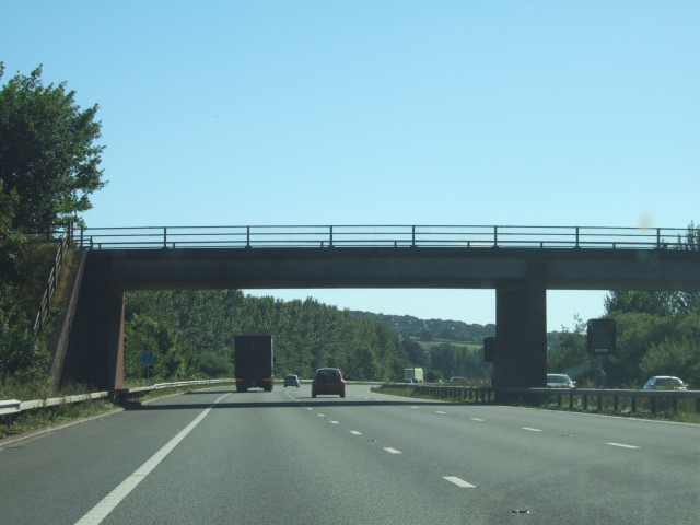 Bridge over M5, carrying road from Westcott to Bradninch