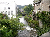 NY3704 : River Rothay, seen from the bridge by Peter S