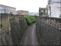 SE1632 : View West South West from Bridge LBE4/4, Hall Lane by Stephen Armstrong