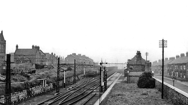 Westoe Lane station, South Shields & Whitburn Colliery Railway, 1953