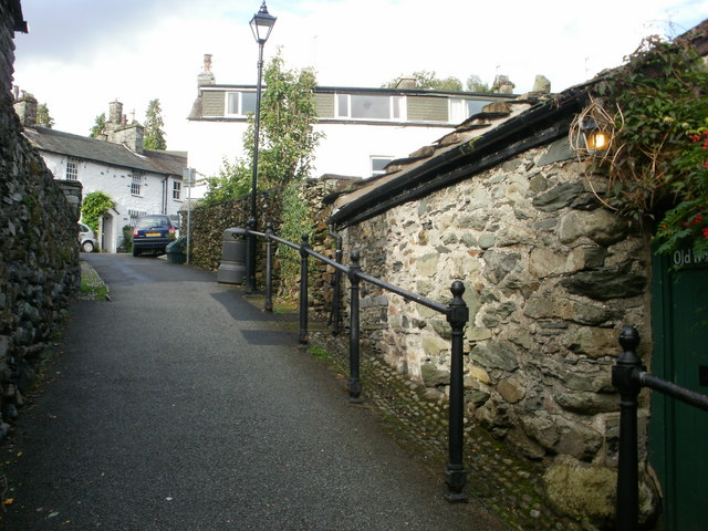 Peggy Hill, Ambleside – view up