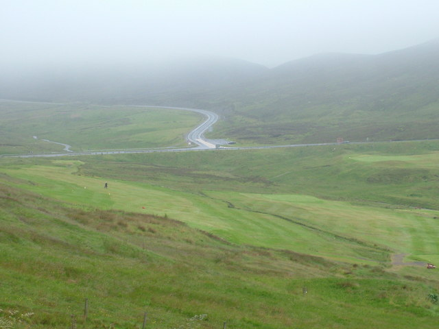 Road Junction A970 above the Shetland Golf Course