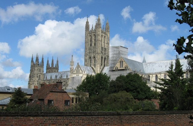 Canterbury Cathedral from the Southeast.