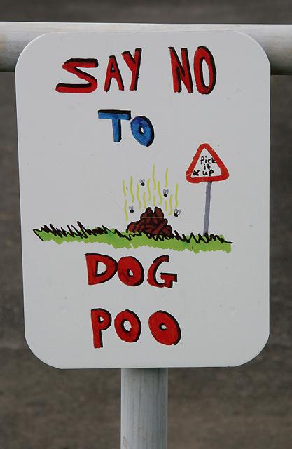 Say no to dog poo