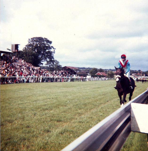 The winner! Plumpton Racecourse