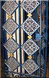 TL8564 : St Edmundsbury cathedral, Bury St Edmunds - Lady Chapel screen doors by Evelyn Simak