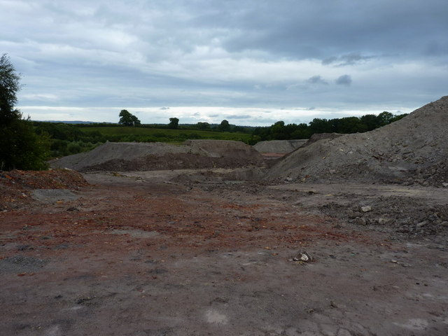 Opencast clay workings at Broseley