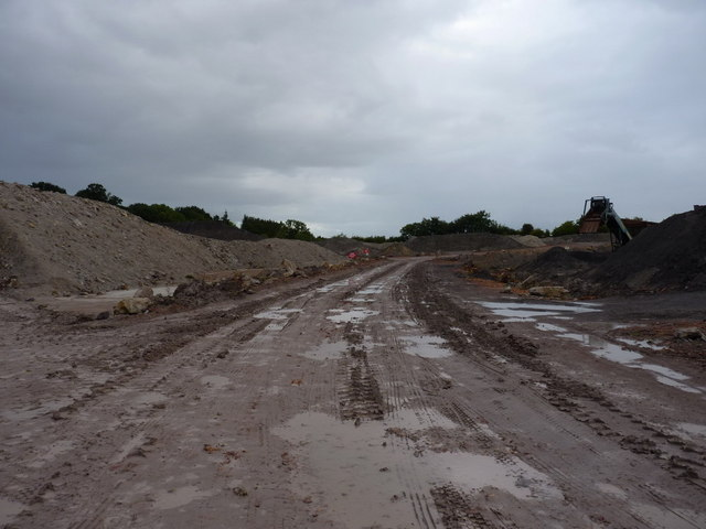 Dumper track and quarry machinery