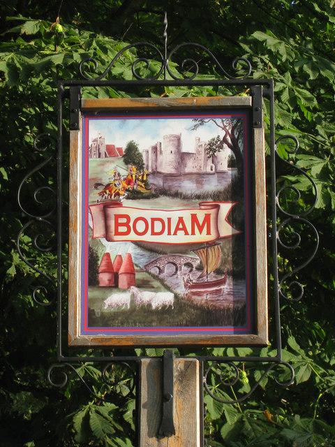 Bodiam village sign