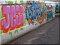 SP0101 : Graffiti in Chesterton underpass by Roger May