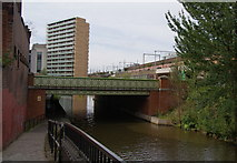 SJ8297 : The Bridgewater Canal goes under the A57 by Bill Boaden