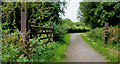 J3370 : Gate and path, Lagan Meadows, Belfast by Albert Bridge