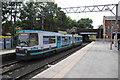 SJ7994 : A Metrolink tram at Stretford by Bill Boaden