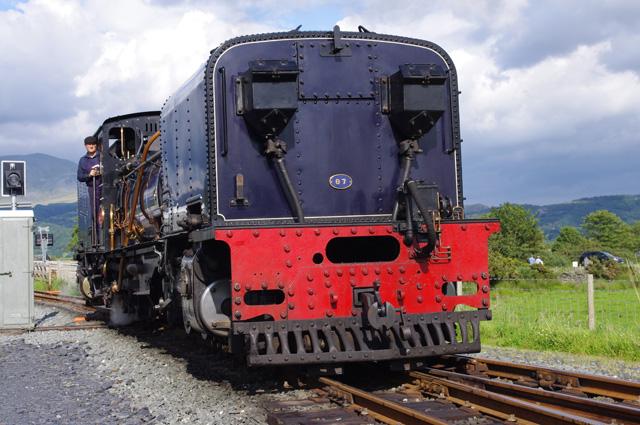 Welsh Highland Railway 87 at Pont Croesor station