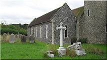 TM4077 : St. Peter, Holton: memorials in the churchyard by Basher Eyre