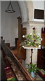 TM4077 : St. Peter, Holton: floral display in the nave by Basher Eyre