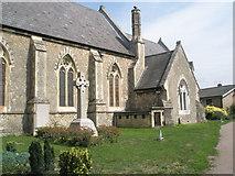TM2850 : Melton, St Andrew: chimney by Basher Eyre