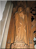 TM2850 : Melton, St Andrew: carving by Basher Eyre