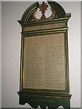 TM2850 : Melton, St Andrew: war memorial by Basher Eyre