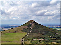 NZ5812 : Roseberry Topping from the Cleveland Way by Paul Buckingham